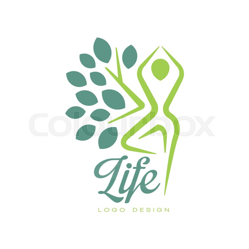 Colorful Life Logo Design With Stock Vector Colourbox