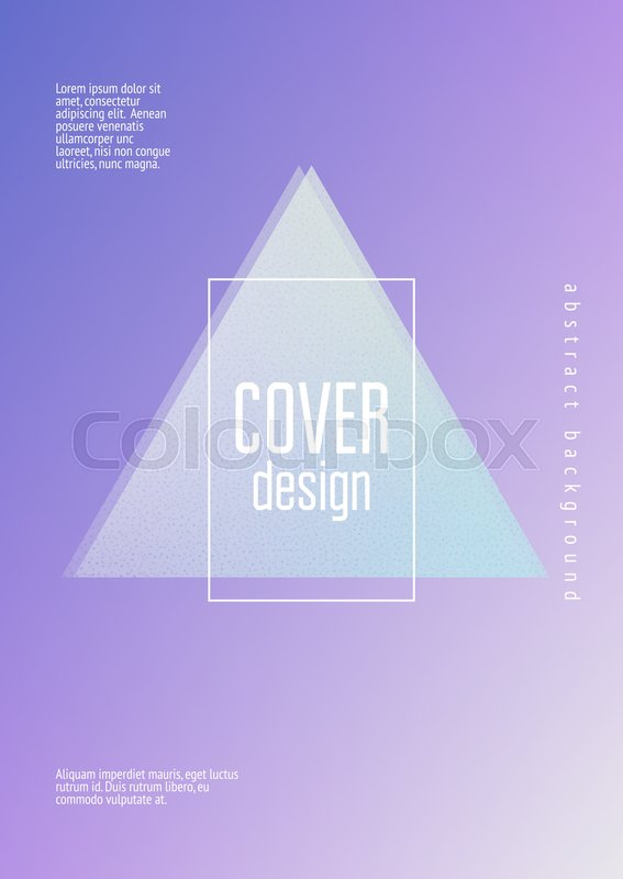 Holographic fluid with triangles      | Stock vector | Colourbox