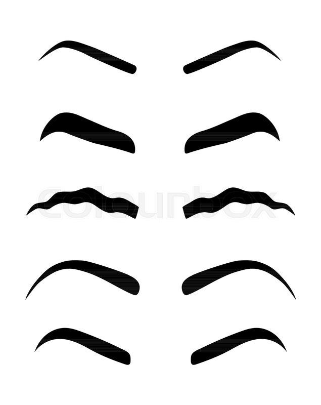photo regarding Eyebrow Stencils Printable named Products of womens eyebrows. Vector  Inventory vector Colourbox