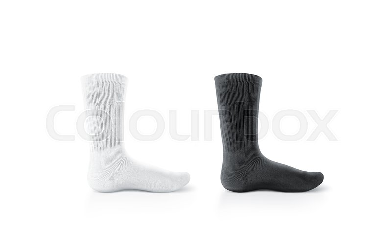Blank black and white long socks design     | Stock image