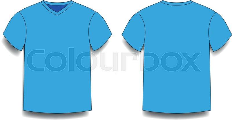 Light Blue Mens T Shirt Template