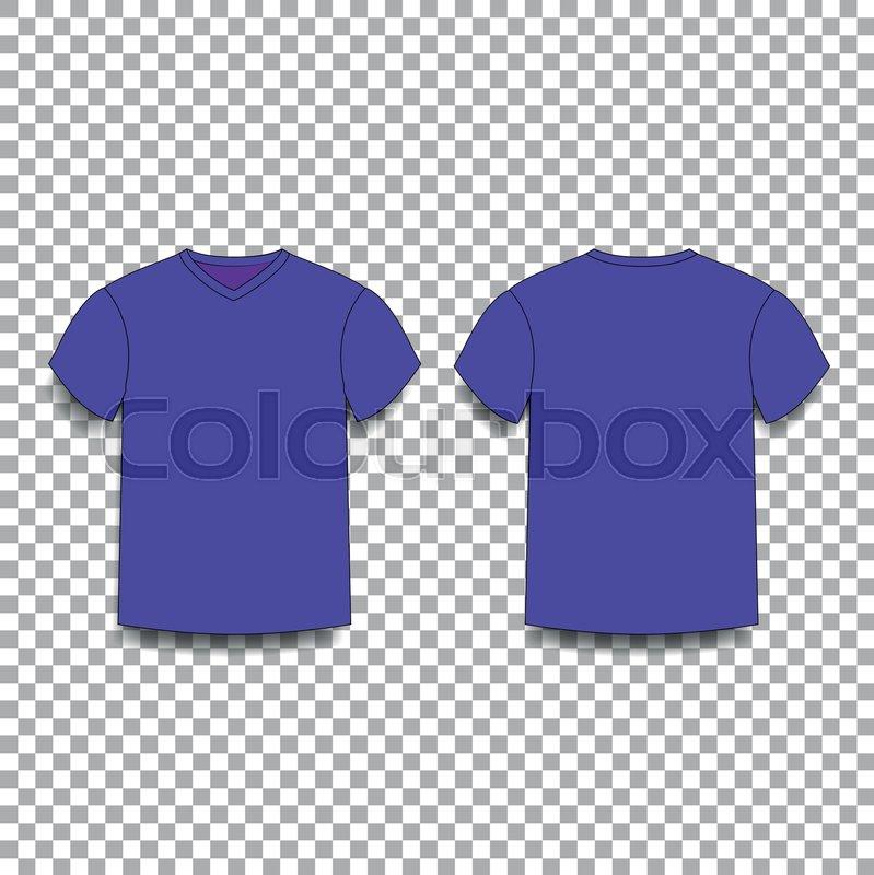 Violet Mens T Shirt Template V Neck