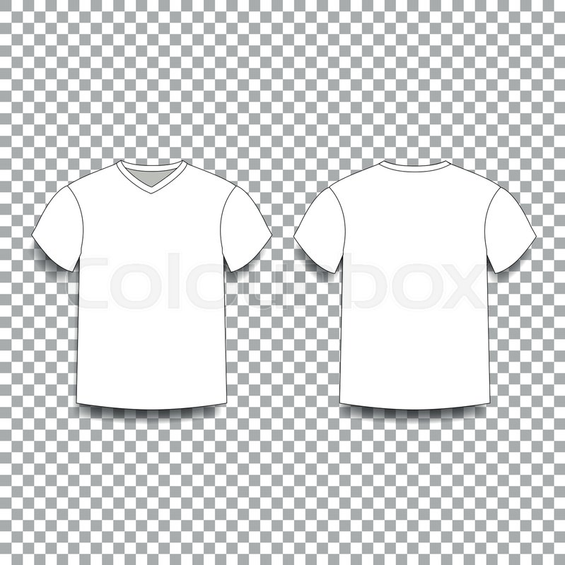 7004d1ed223d White men's t-shirt template v-neck ... | Stock vector | Colourbox