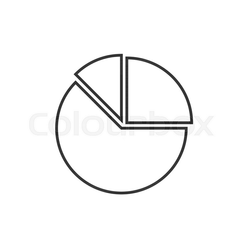 pie chart outline icon on white