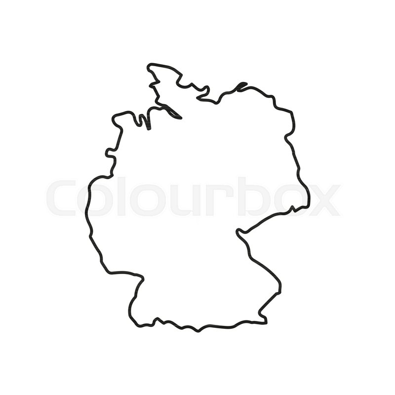 Cartoon Map Of Germany.Germany Map Icon Outline Germany Map Stock Vector Colourbox