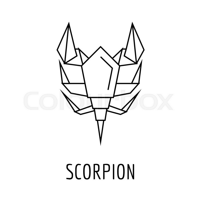 Excellent Origami Scorpion Icon Outline Origami Stock Vector Colourbox Wiring 101 Capemaxxcnl