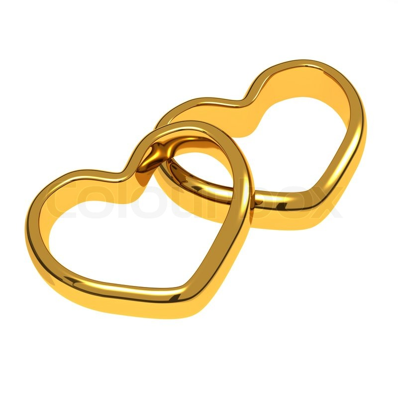 wedding rings in the shape of hearts stock photo colourbox
