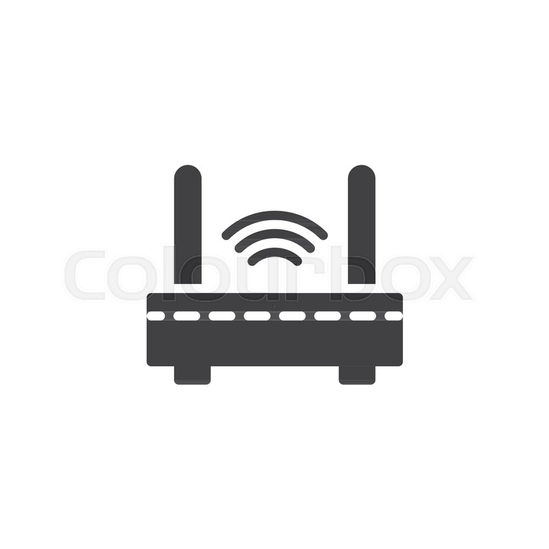 Wifi internet router vector icon      | Stock vector | Colourbox