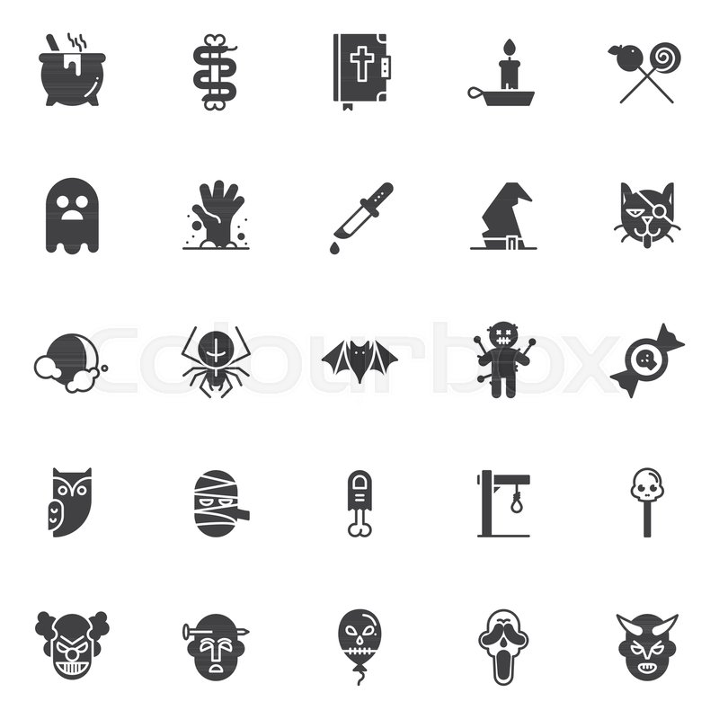 Halloween costume vector icons set modern solid symbol collection filled style pictogram pack. Signs logo illustration. Set includes icons as cauldron ...  sc 1 st  Colourbox & Halloween costume vector icons set modern solid symbol collection ...