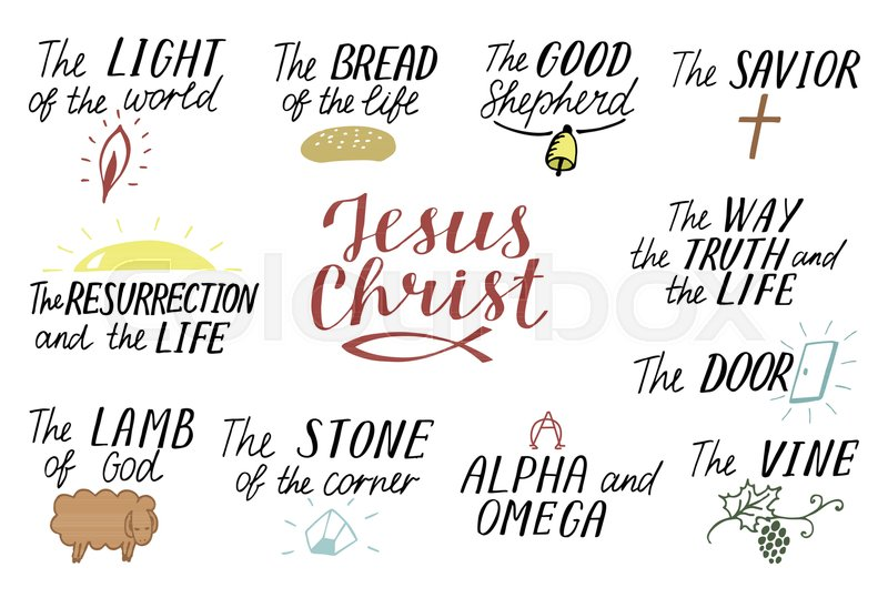 Set Of 11 Hand Lettering Christian Quotes About Jesus Christ Savior