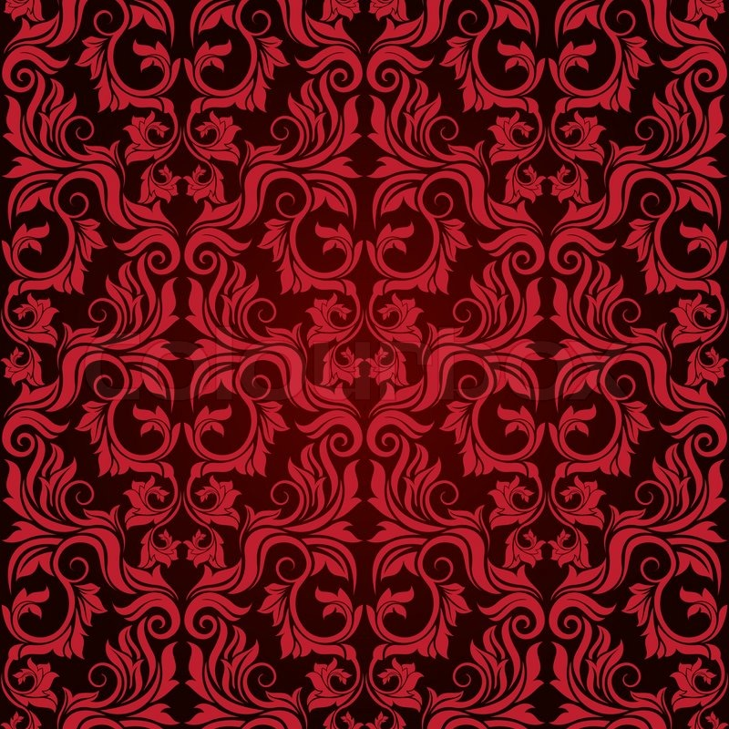 Victorian wallpaper pattern red - photo#22