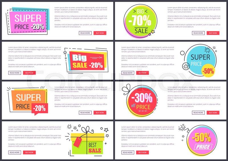 Super sale at Internet shop web pages       Stock vector
