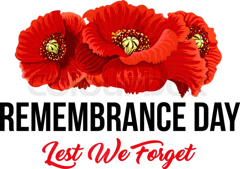 Poppy flowers and lest we forget icon for remembrance day of anzac poppy flowers and lest we forget icon for remembrance day of anzac or commonwealth war commemoration vector red poppy symbol for 11 november or 22 april mightylinksfo