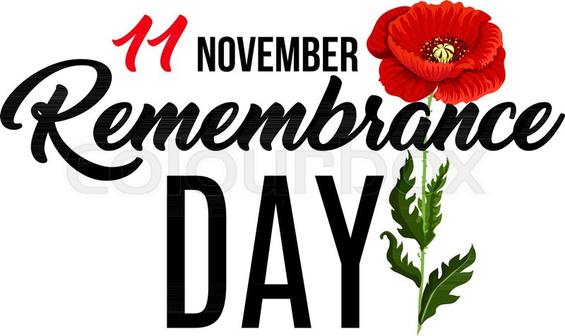 Vector poster for remembrance day with poppy flower concept of 11 stock vector of vector poster for remembrance day with poppy flower concept of 11 mightylinksfo