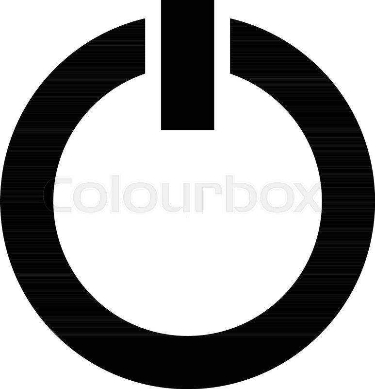 Power Symbol Power Button Icon Isolated On White Power On Off Icon
