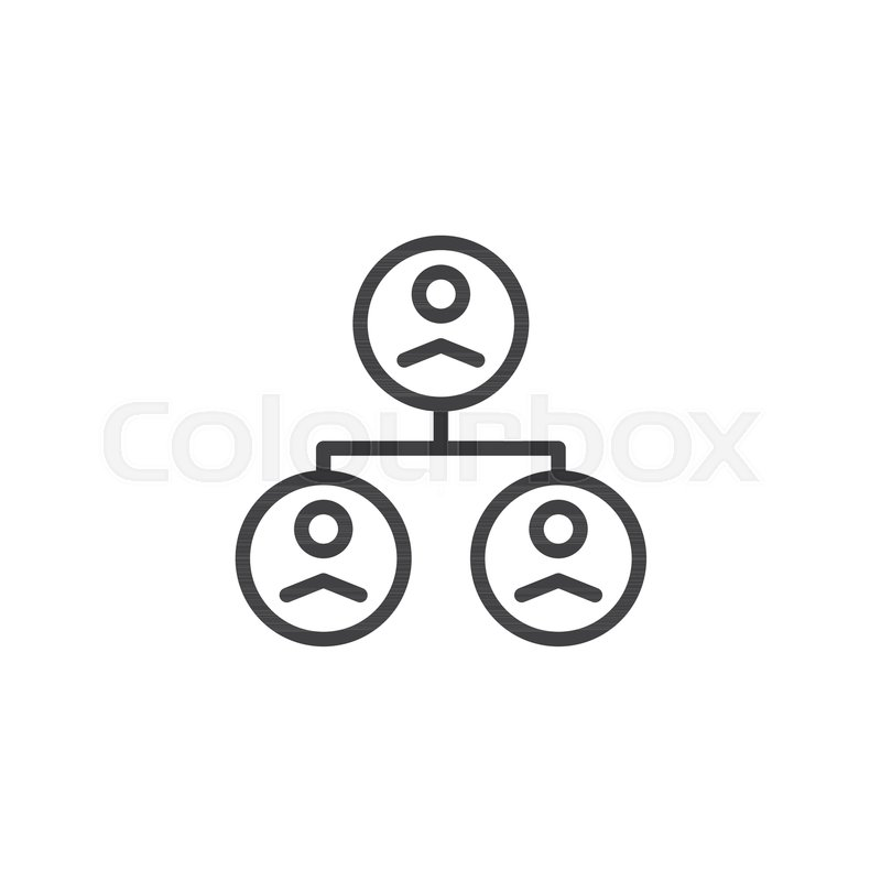People Organization Group Outline Icon Linear Style Sign For Mobile