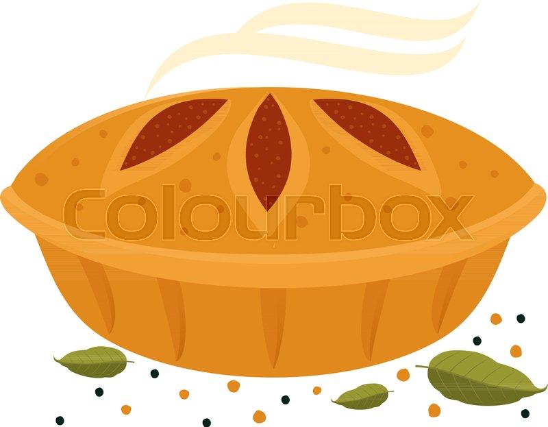 Meat pie, roll, quiche vector flat     | Stock vector