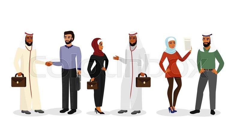 98d3d40434506 Vector illustration of cartoon Arab ...