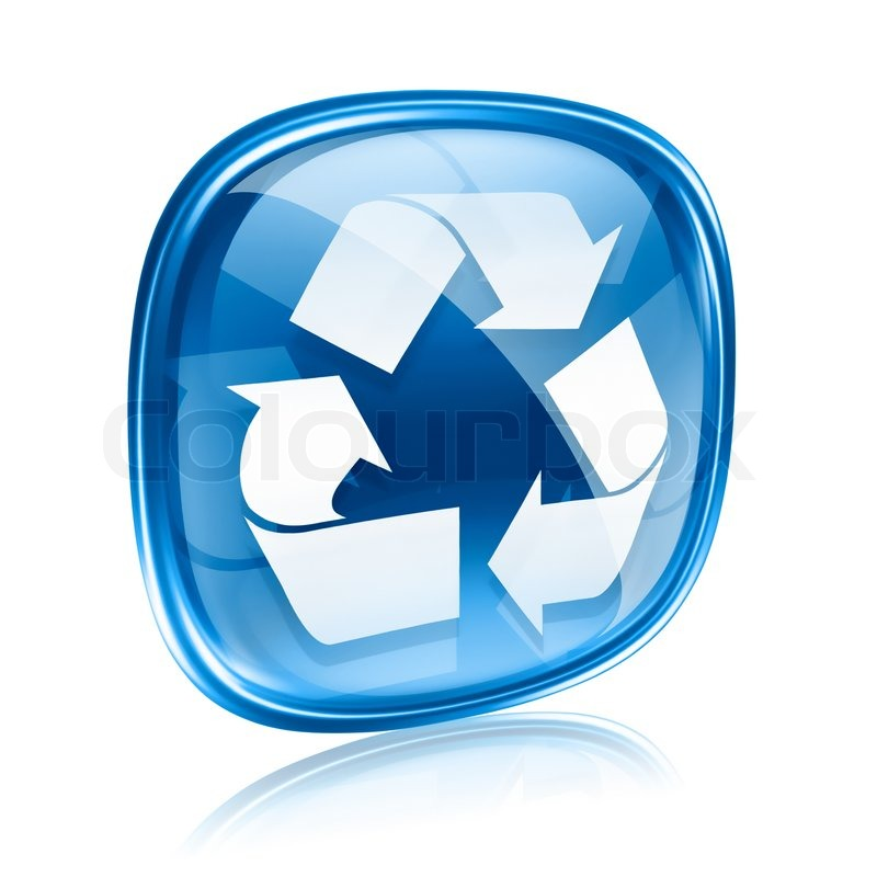 Recycle Glass Symbol Recycling Symbol Icon Blue