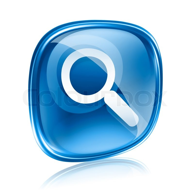 magnifying glass icon blue - photo #13