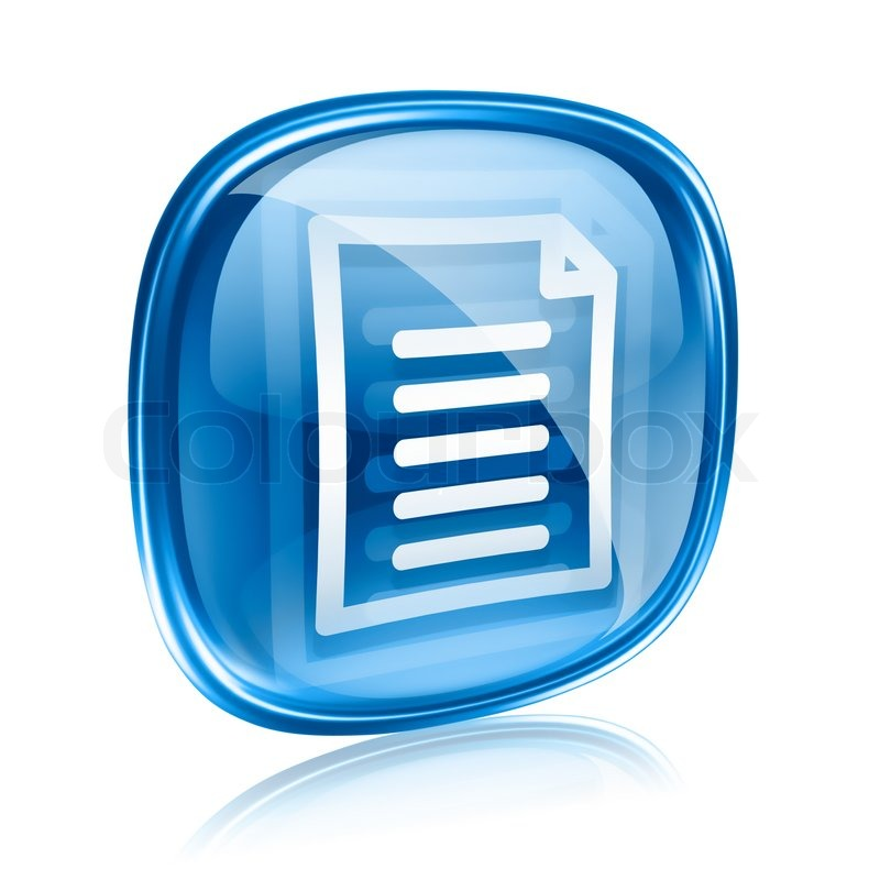 Blue document icon