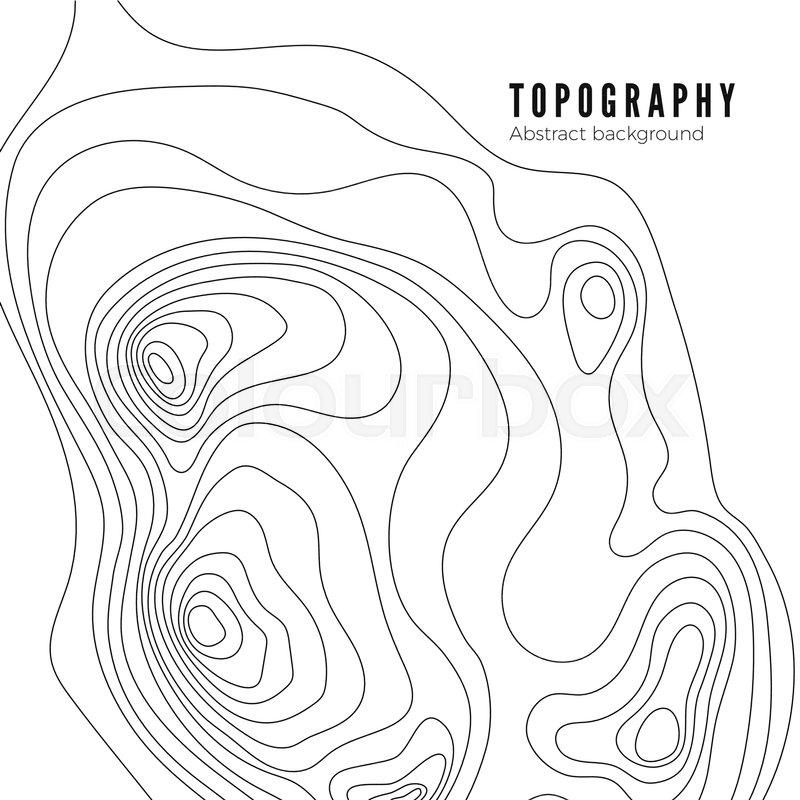 Topographic map contour background pattern. Contour Landscape Map ...