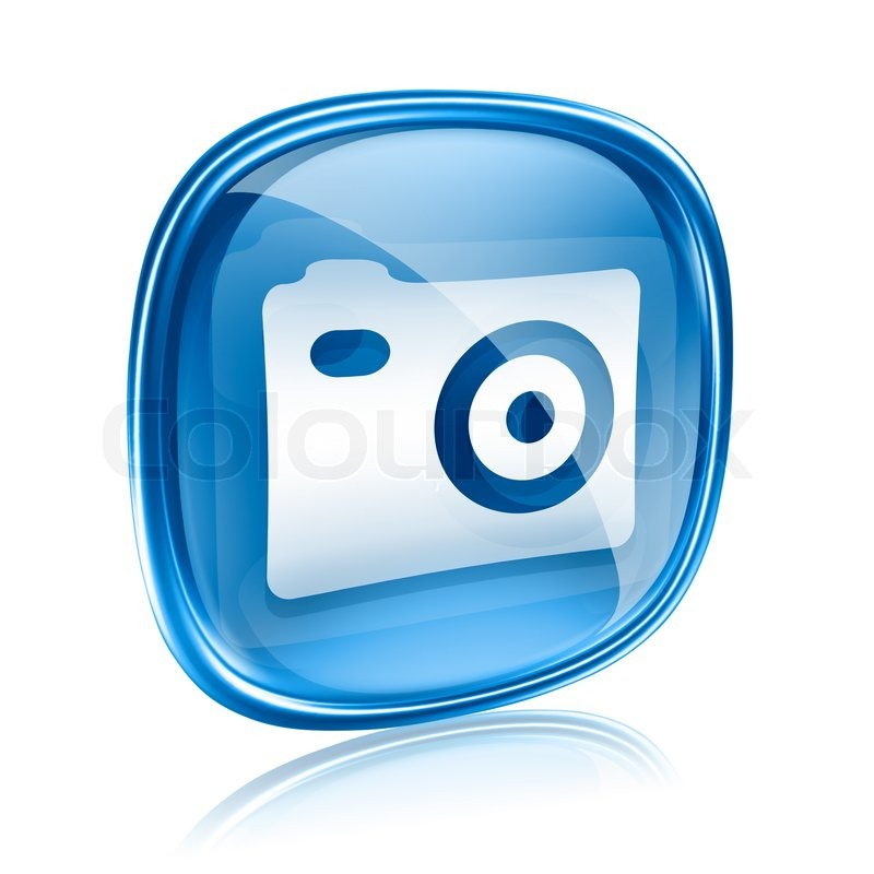 Background Image Icon Camera Icon Blue Glass