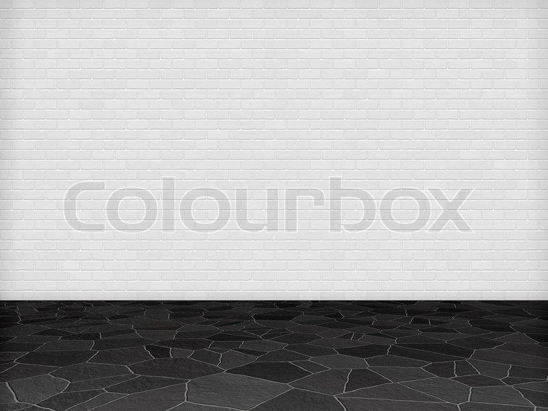 wei er wand schwarzer boden stock foto colourbox. Black Bedroom Furniture Sets. Home Design Ideas