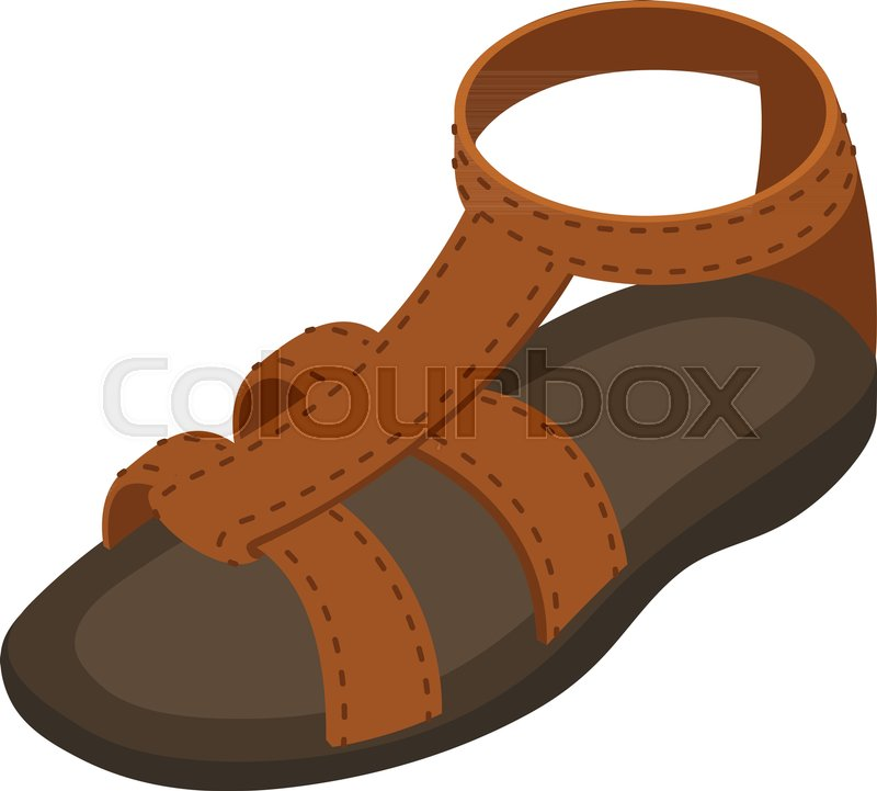 Vector Sandal Colourbox IconIsometricStock Summer 76vgyfbY