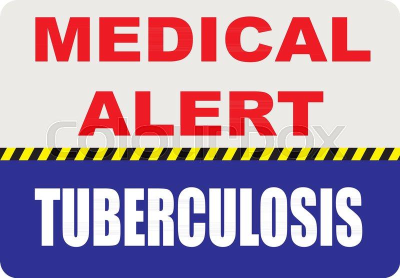 Special Symbol Sign Medical Alert Tuberculosis Vector