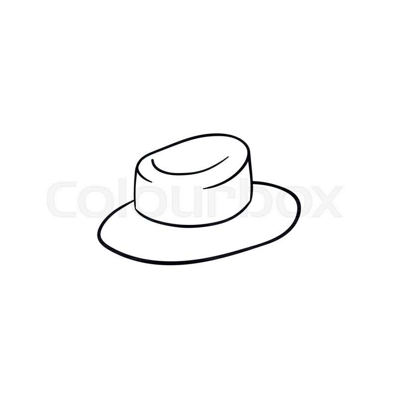 c31f244d3df Stock vector of  Straw women panama hand drawn outline doodle icon. Sun hat  vector