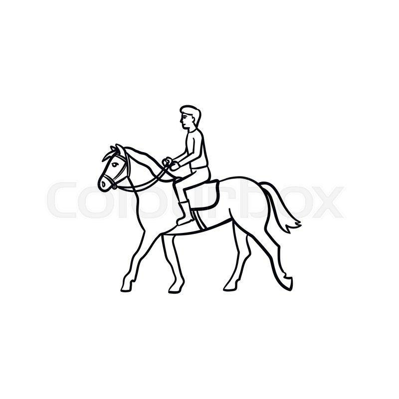 Line Drawing Harness Racing