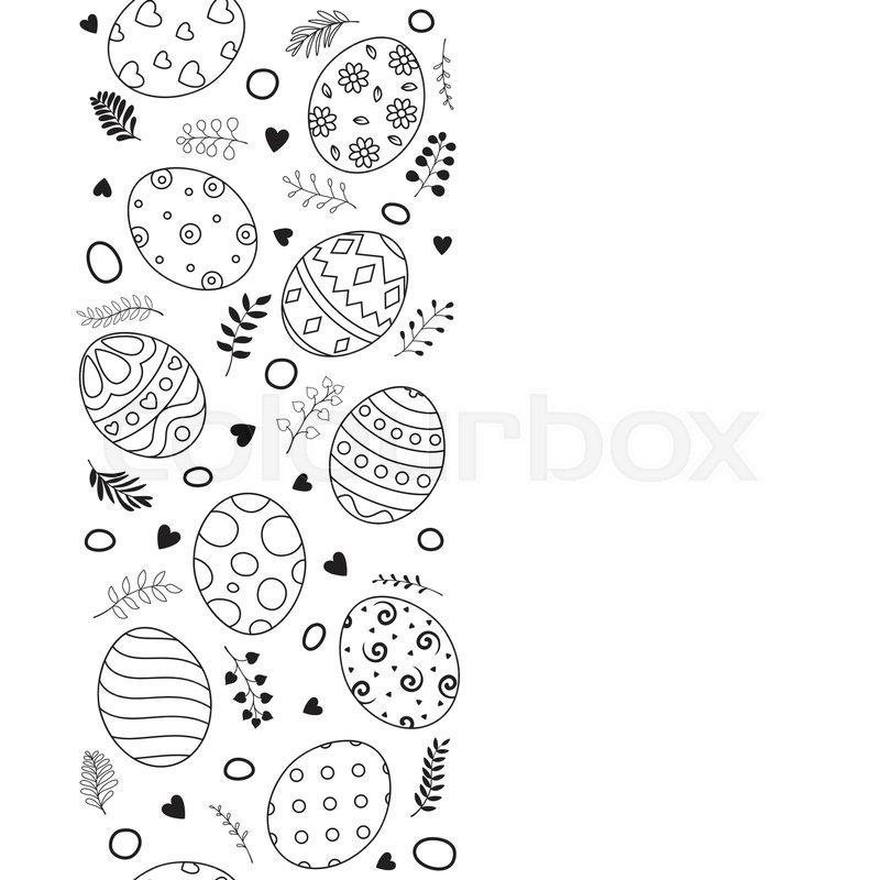 Illustration Of Easter Eggs Stock Vector Colourbox