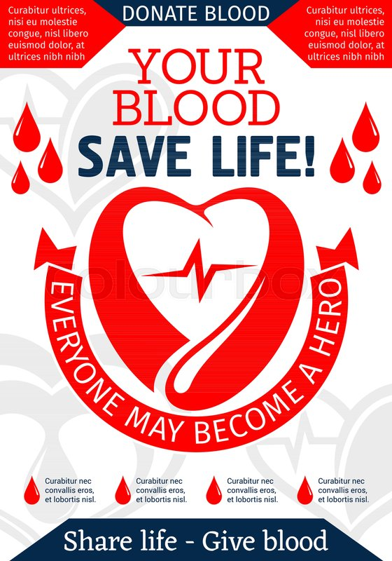 Blood donation promo poster with heart and dripping blood heart blood donation promo poster with heart and dripping blood heart red drop and ribbon banner with donate blood share life message for world donor day card thecheapjerseys Image collections