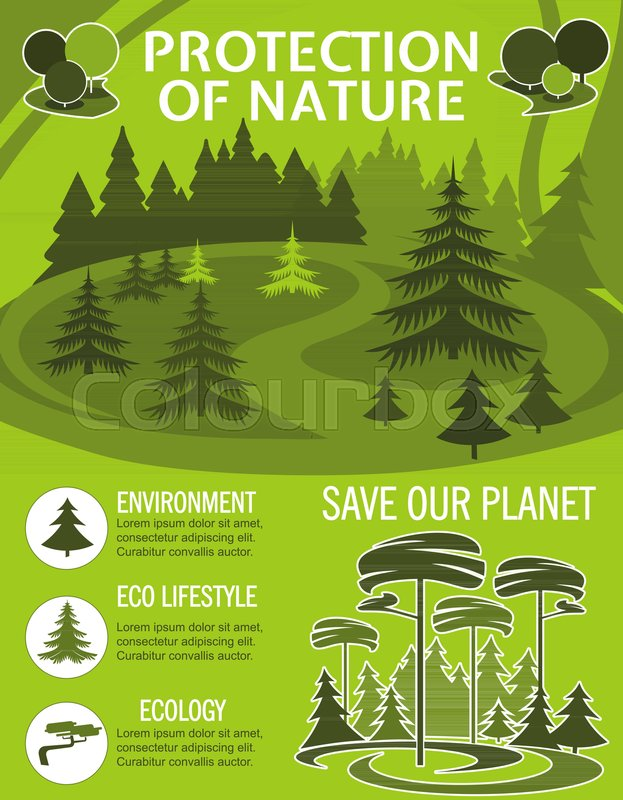 save planet poster for ecology nature protection template eco park