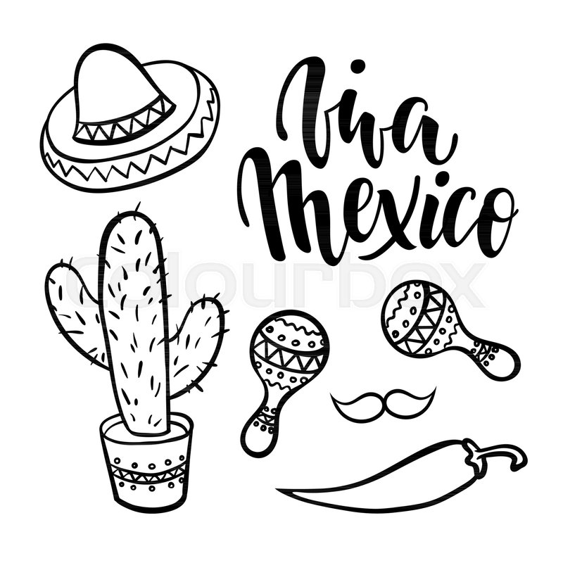 Mexican Fiesta Clipart Black And White