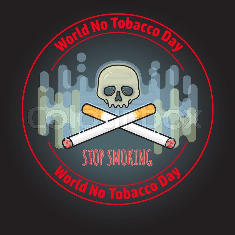 No Tobacco Day Concept Stop Smoking Stock Vector Colourbox