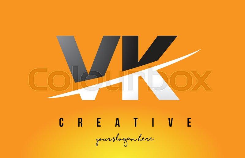 VK V K Letter Modern Logo Design with     | Stock vector | Colourbox