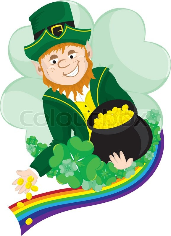buy stock photos of pot of gold   colourboxirish leprechaun scattering coins from his pot of gold
