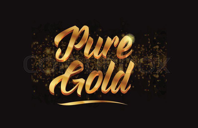Pure gold gold word text with sparkle     | Stock vector | Colourbox
