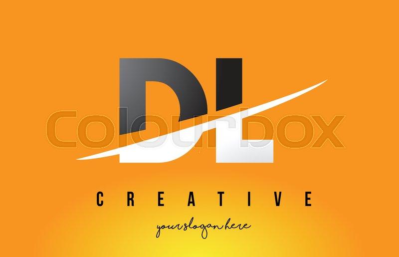Dl D L Letter Modern Logo Design With Stock Vector Colourbox
