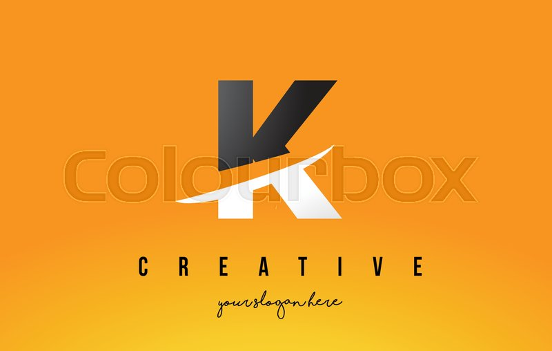 K Letter Modern Logo Design With Stock Vector Colourbox
