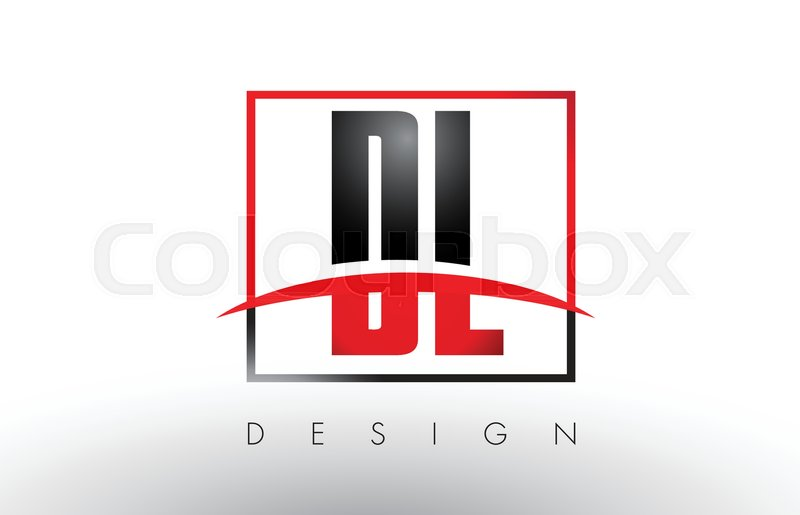 Dl D L Logo Letters With Red And Black Stock Vector Colourbox