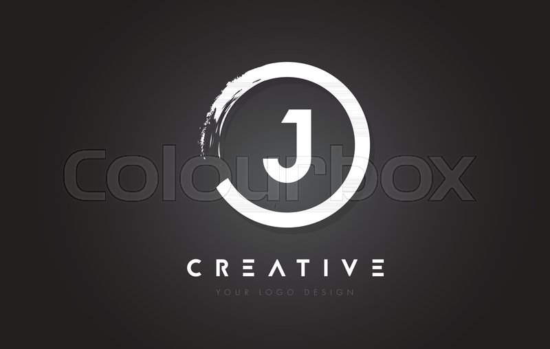 J Circular Letter Logo with Circle     | Stock vector | Colourbox