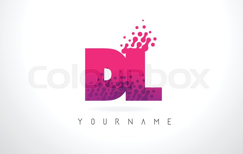 Dl D L Letter Logo With Pink Letters Stock Vector Colourbox