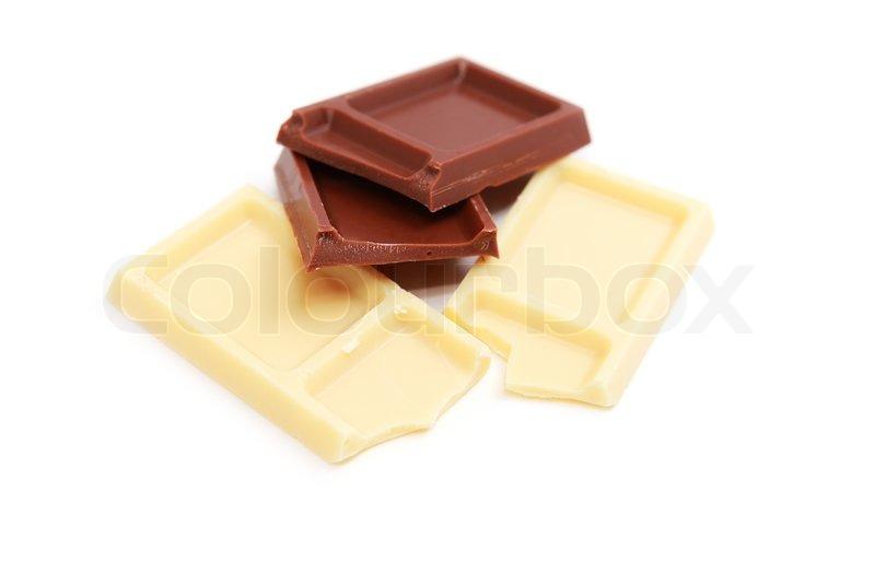 milk and white chocolate