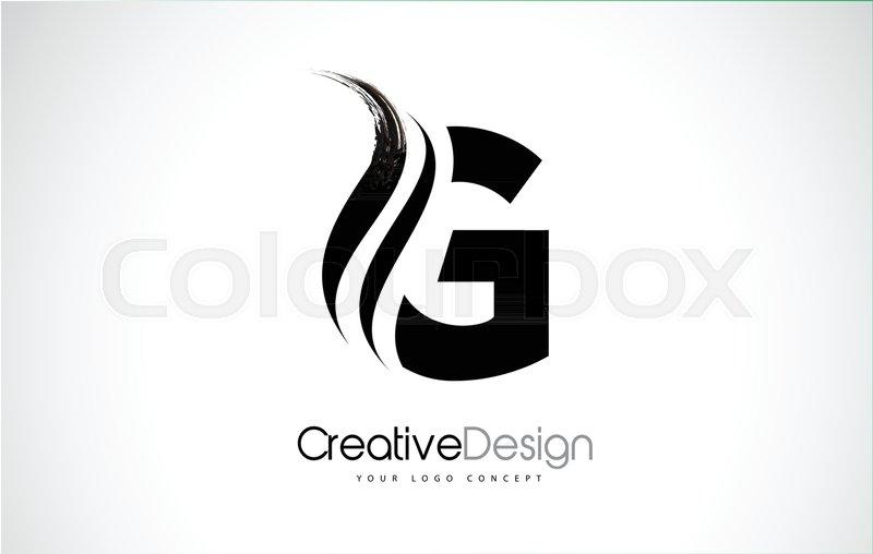 G Letter Design Brush Paint Stroke.  | Stock vector | Colourbox