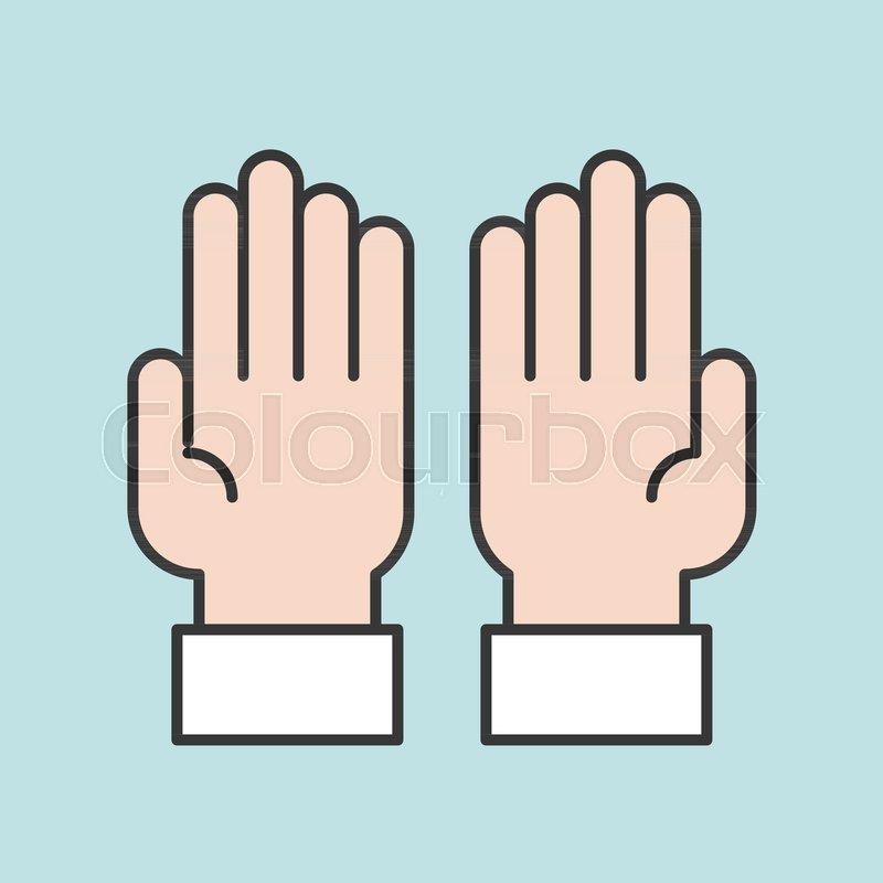 Prayer hands for ramadan, filled       Stock vector   Colourbox