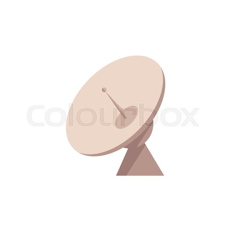 Satellite Radar Dish With Antenna Icon Cosmic Communication