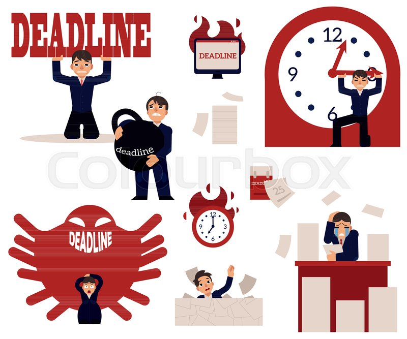 Deadline And Time Management Concept Stock Vector Colourbox